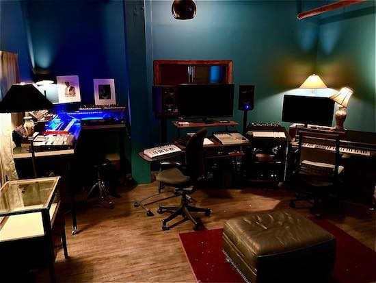 The control room at Stillwave recording studio in Milwaukee, WI