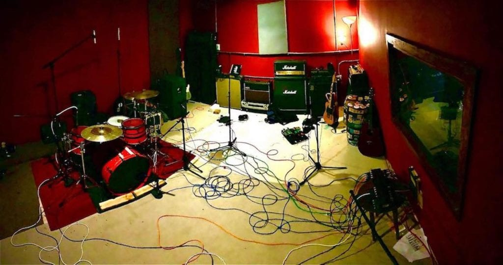 The live recording room at Stillwave Recording Studio in Milwaukee, WI